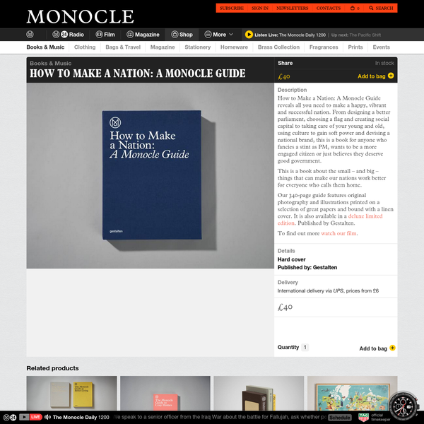 How to Make a Nation: A Monocle Guide - Books & Music - Shop