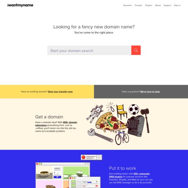 Your New Favorite Domain Registrar | iwantmyname