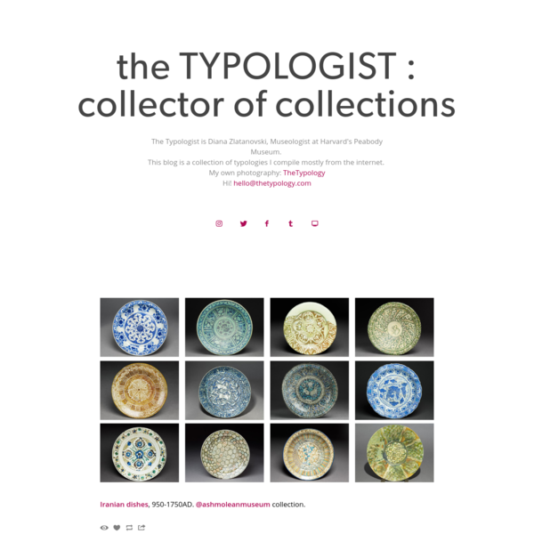 the TYPOLOGIST : collector of collections