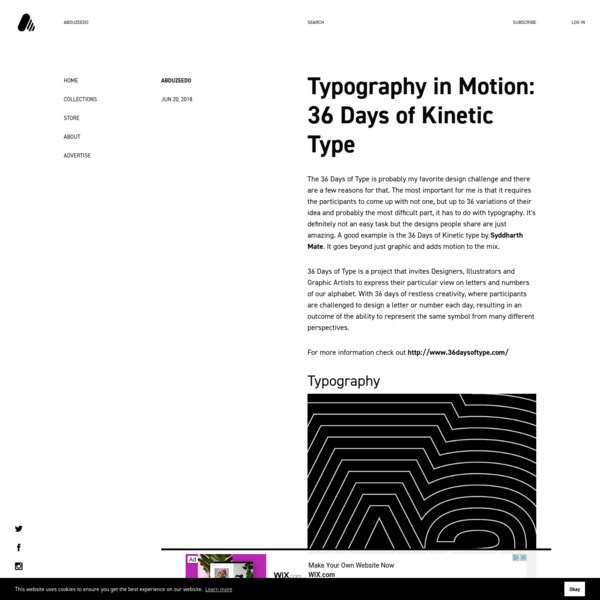 Typography in Motion: 36 Days of Kinetic Type