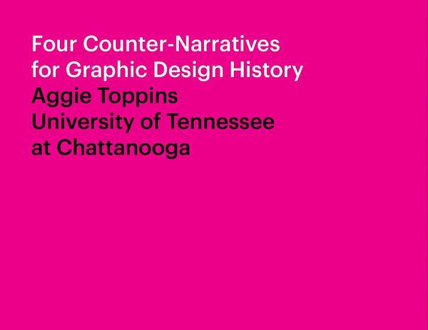 Four Counter-Narratives for Graphic Design History on Vimeo