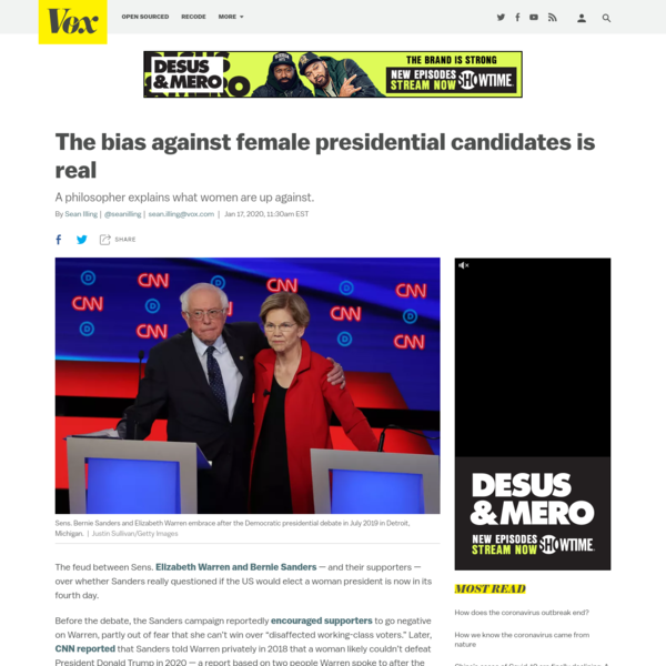The bias against female presidential candidates is real - Vox