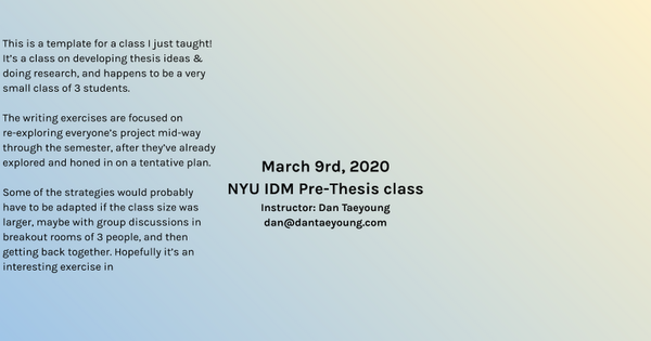 200309 Pre-Thesis online class__template