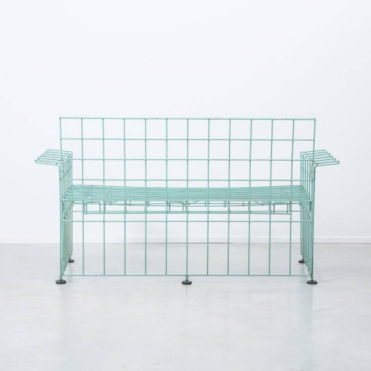 """Bruno Munari for Abitacolo_""""Wire Sofa"""" (1972)"""