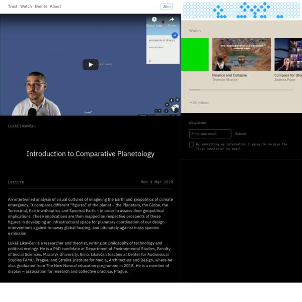Trust - Introduction to Comparative Planetology - Lukáš Likavčan