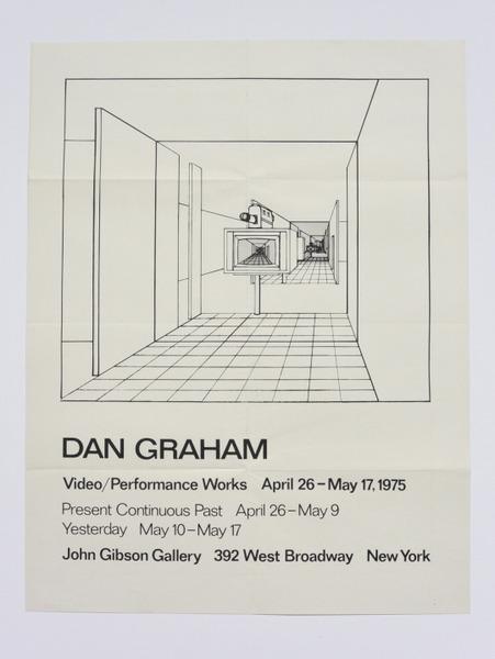 Dan Graham, Video/Performance Works April 26 - May 17 (1975)
