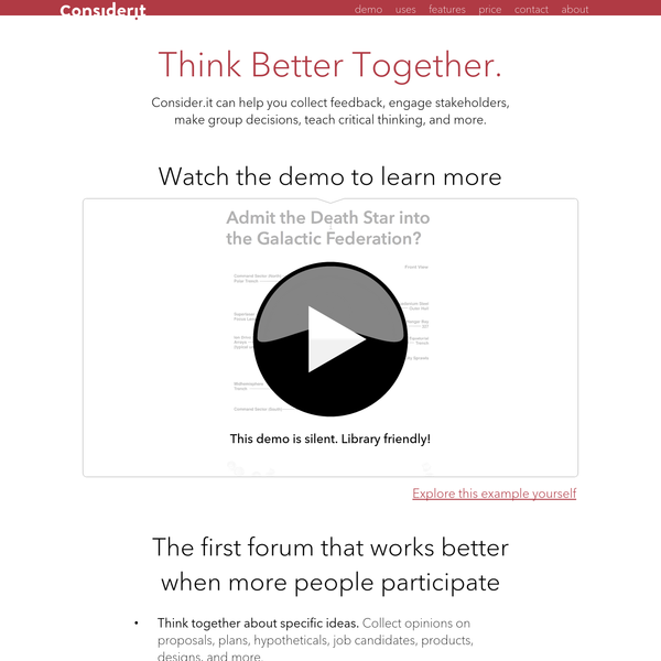 Consider.it   Think Better Together