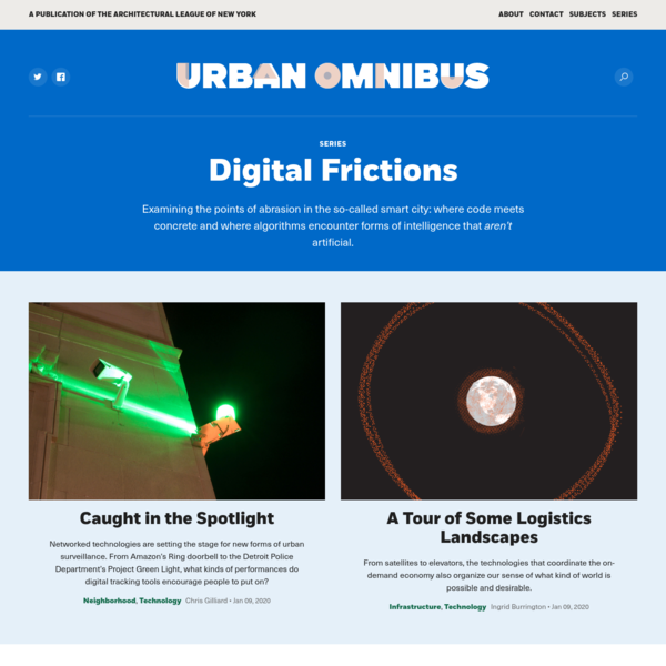 Digital Frictions Archives | Urban Omnibus
