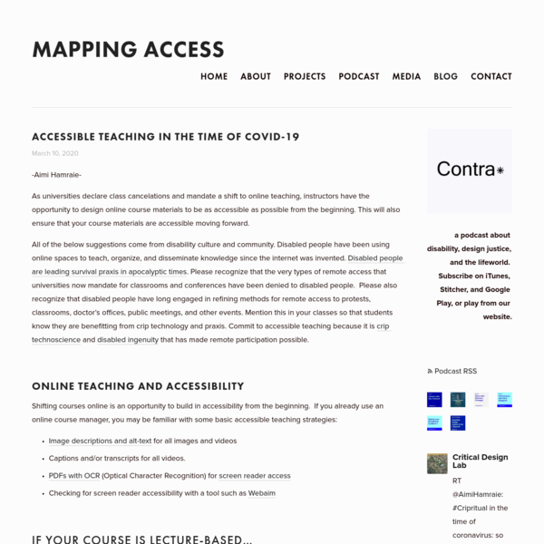 Blog - Mapping Access