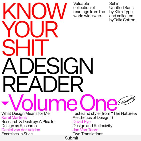 A Design Reader
