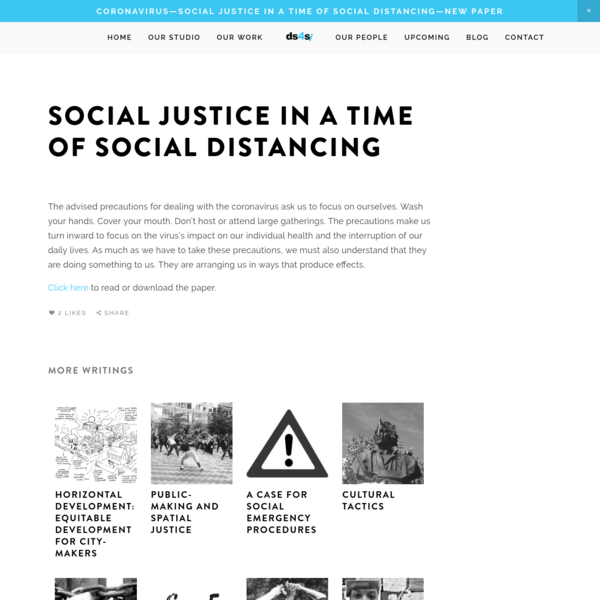 Social Justice in a Time of Social Distancing - ds4si