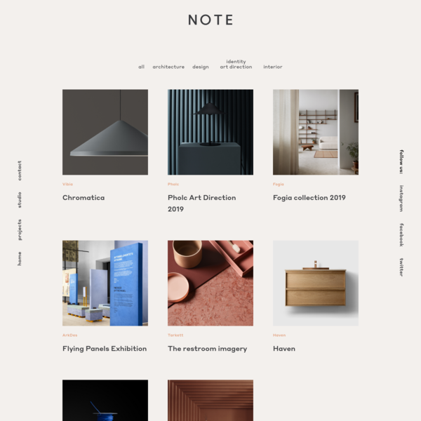 Portfolio of Note Design Studio