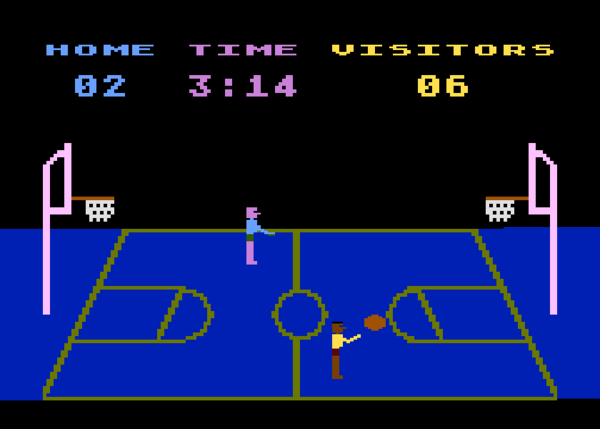 """Basketball"" programmed by Alan Miller for Atari (1979)"