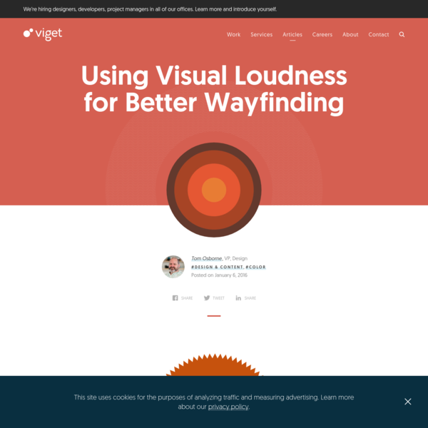 Using Visual Loudness for Better Wayfinding | Viget