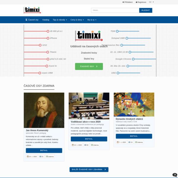 Časové osy, znalostní kvízy, stolní hry   Timixi.com