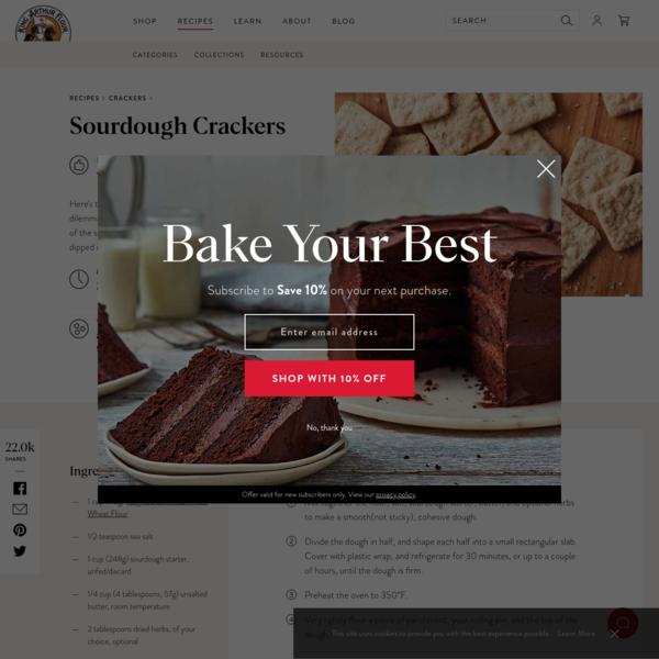 Sourdough Crackers | King Arthur Flour