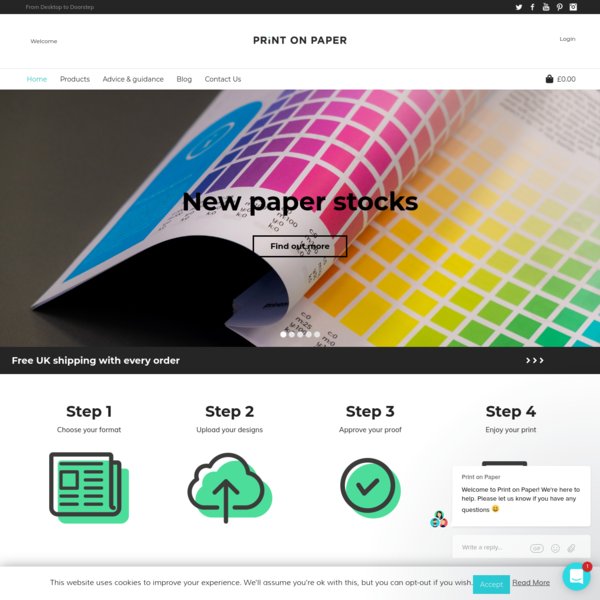 Print on Paper | Upload and print your own designs today!