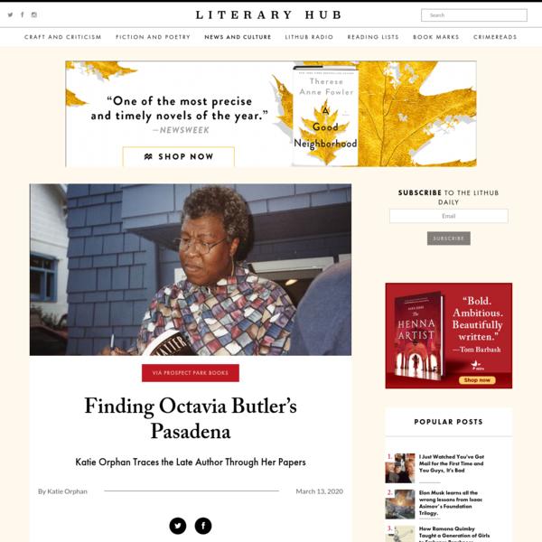 Finding Octavia Butler's Pasadena