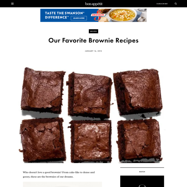 Our Favorite Brownie Recipes