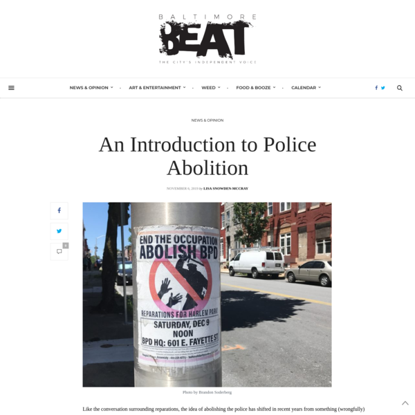 An Introduction to Police Abolition