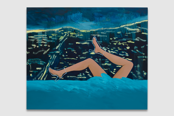 Becky Kolsrud, Legs in Franklin Hills, 2020