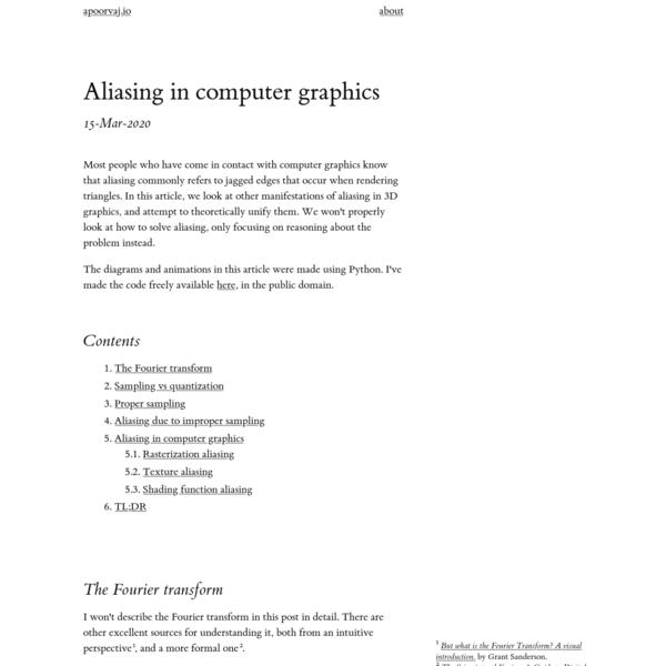 Aliasing in computer graphics