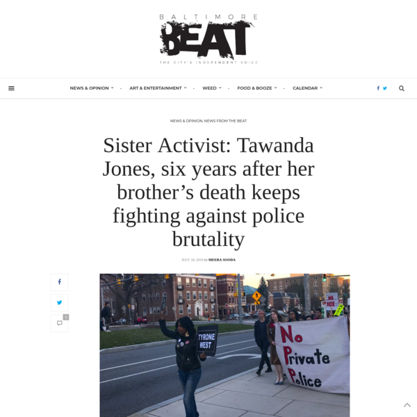 Sister Activist: Tawanda Jones, six years after her brother's death keeps fighting against police brutality