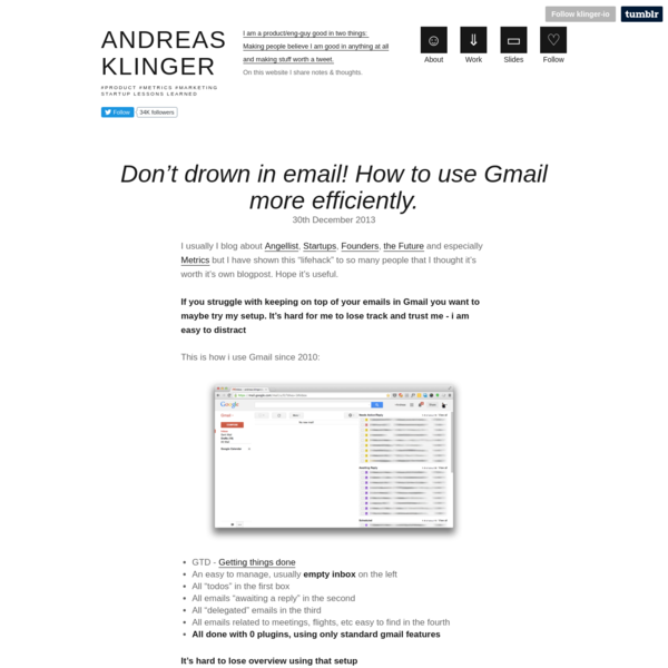 Don't drown in email! How to use Gmail more efficiently.