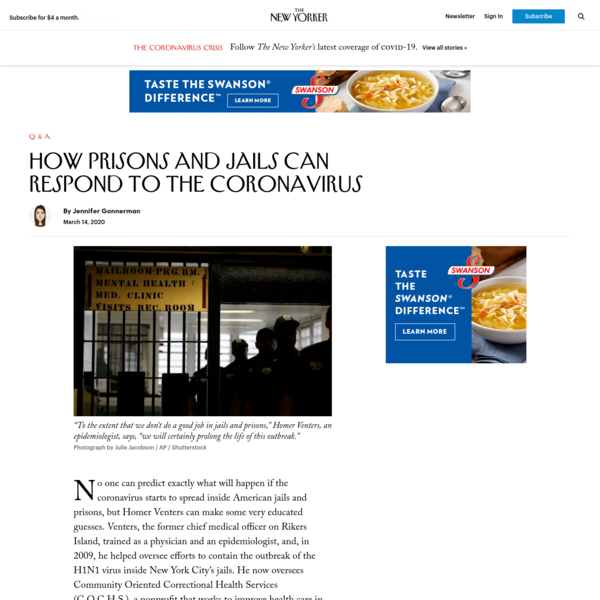How Prisons and Jails Can Respond to the Coronavirus