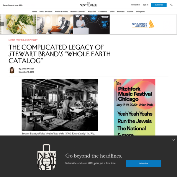 """The Complicated Legacy of Stewart Brand's """"Whole Earth Catalog"""""""