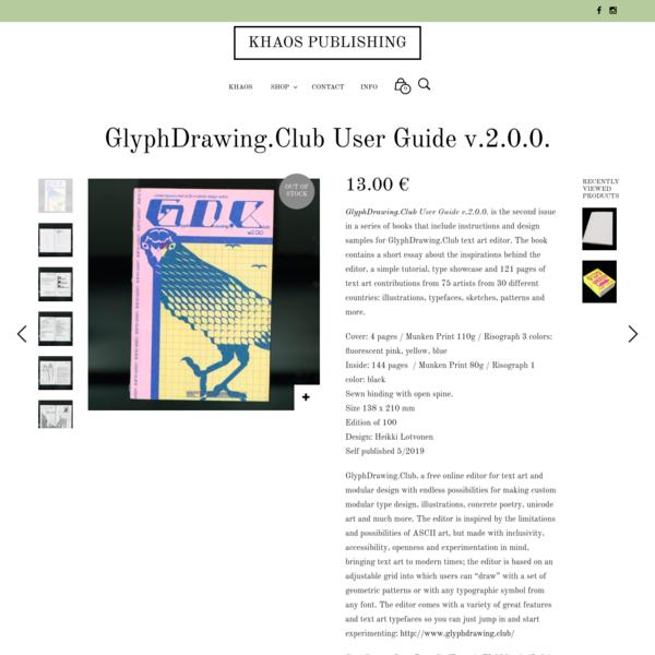 GlyphDrawing.Club User Guide v.2.0.0.