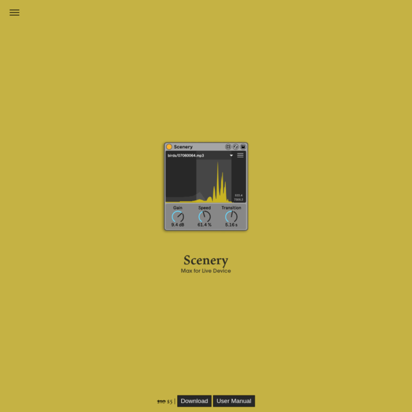 Scenery | Max for Live - pATCHES