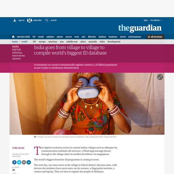 The digital revolution arrives in remote Indian villages such as Akbarpur by communication methods old and new: a WhatsApp message buzzes through to the village chief; he notifies his fellows via megaphone. The world's biggest biometric ID programme is coming to town.