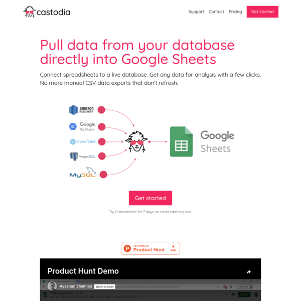 Pull data from your database directly into Google Sheets