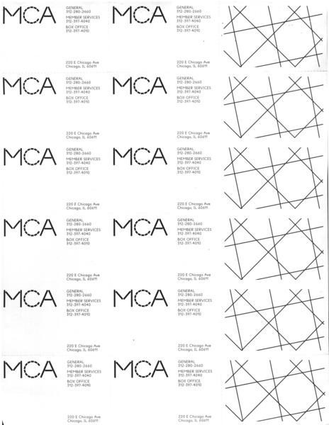 Membership coupon sheet<br>Back<br>2016<br>8.5 × 11 in.<br>Offset print