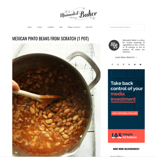 Mexican Pinto Beans | Minimalist Baker Recipes