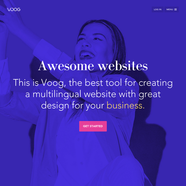 Voog is a mess-free platform that enables you to build awesome websites with a creative flow.