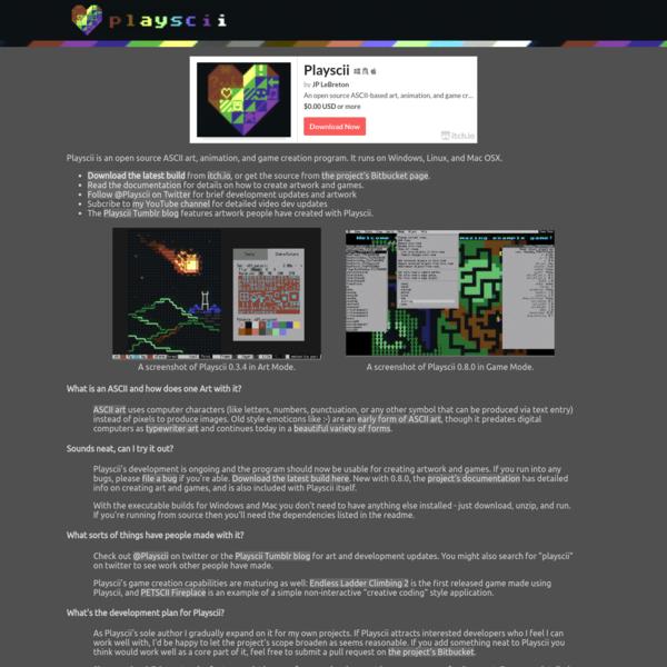 Playscii - an open source ASCII art and game creation program