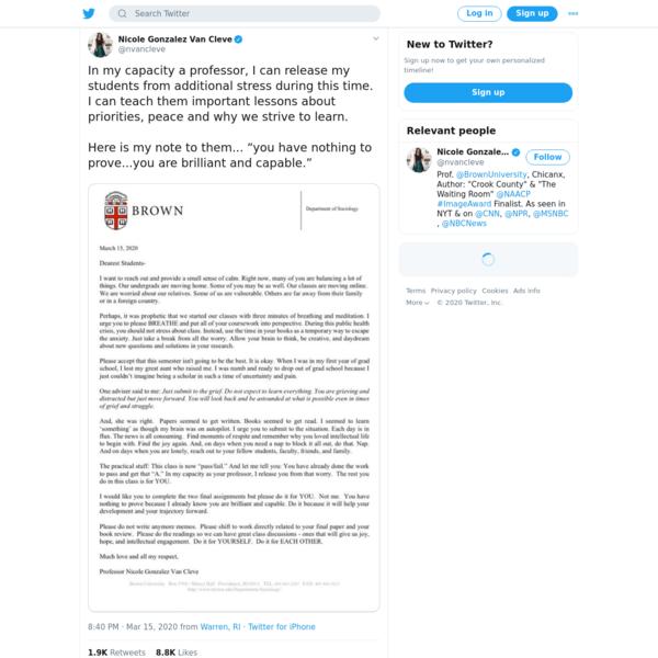 Nicole Gonzalez Van Cleve on Twitter