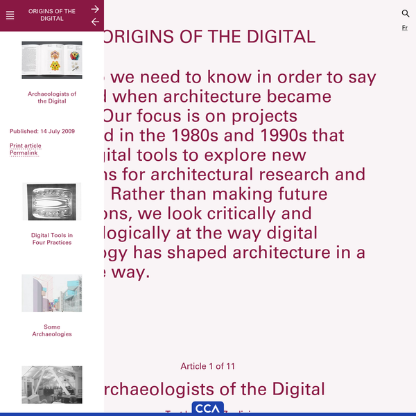 Archaeologists of the Digital