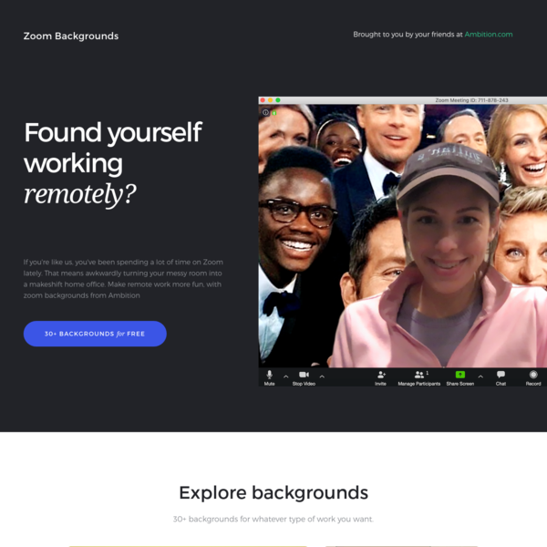 Zoom Virtual Backgrounds