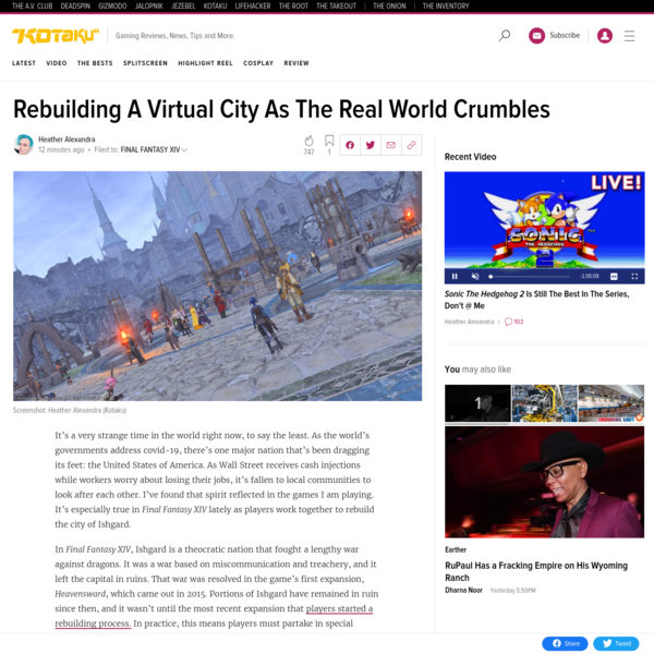 Rebuilding A Virtual City As The Real World Crumbles