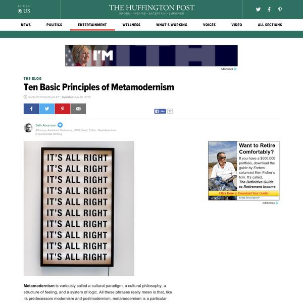 Ten Basic Principles of Metamodernism