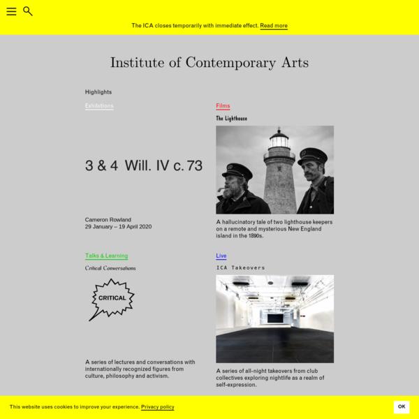 ICA   Institute of Contemporary Arts