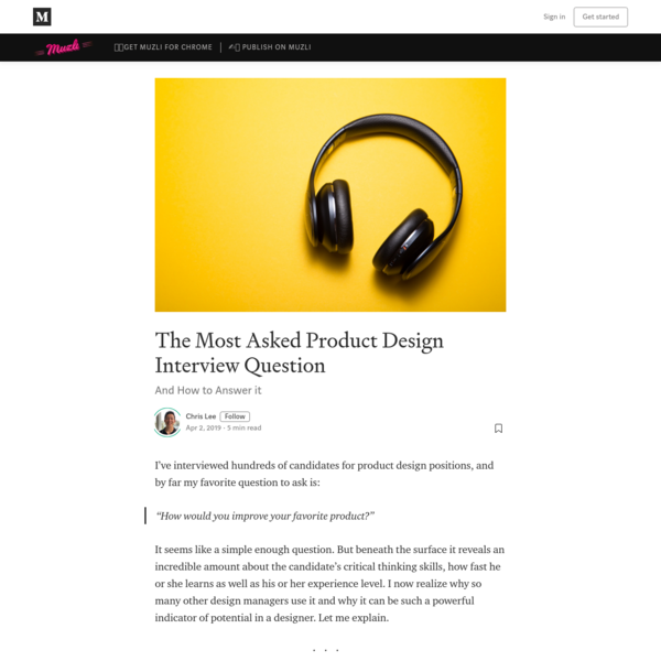 The Most Asked Product Design Interview Question