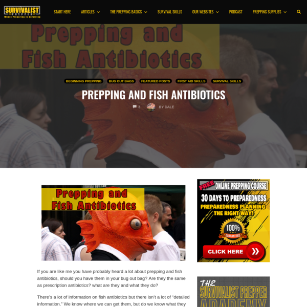 Prepping and Fish Antibiotics