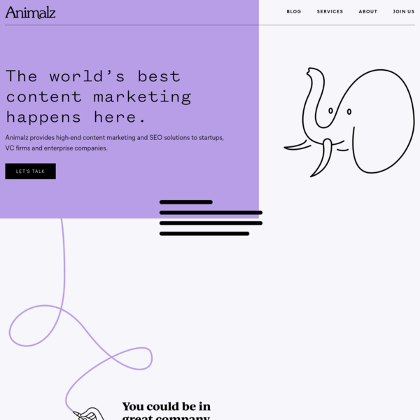 Animalz | Content Marketing Services for SaaS Companies