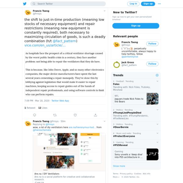 Francis Tseng on Twitter