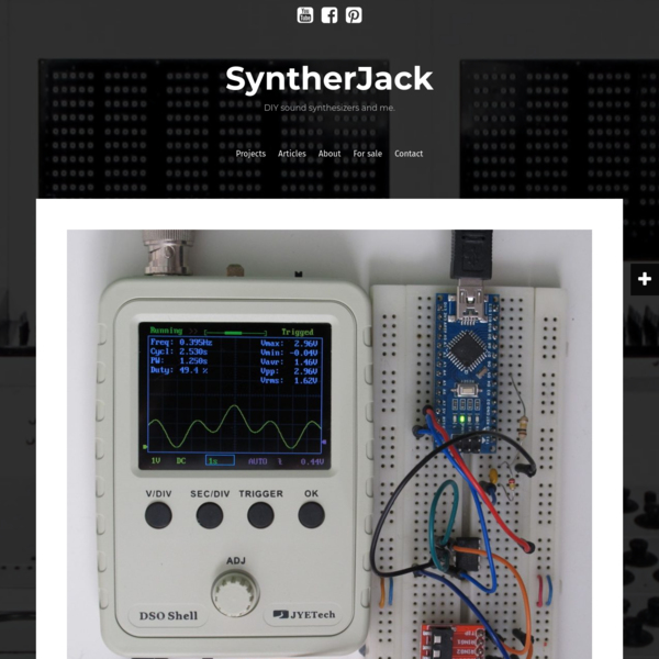 Korg Volca Modular and Arduino - SyntherJack DIY synth homepage
