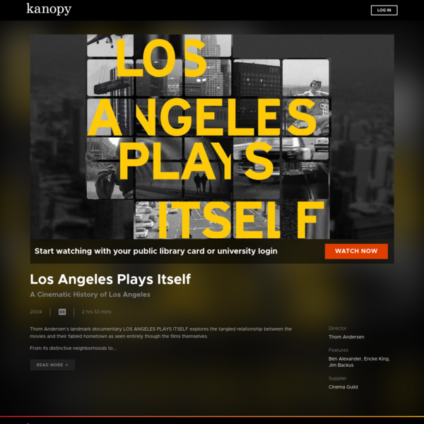 Los Angeles Plays Itself | Kanopy